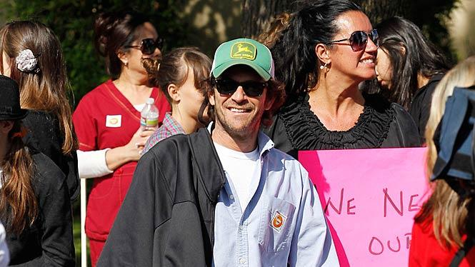 Luke Perry Protesting