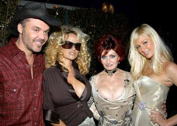 David LaChapelle, Pamela Anderson, Sharon Osbourne and Paris Hilton 13th Annual Elton John AIDS Foundation Oscar Party West Hollywood, CA - 2/27/05