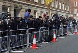 Media Frenzy! The Press Gather Outside King Edward VII Hospital To Catch A Glimpse Of Kate Middleton Following Pregnancy Announcement