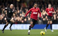 Manchester United midfielder Nani (C) during a Premier League match in December 2011. Nani has admitted he is struggling to regain his top form since returning from injury for Manchester United