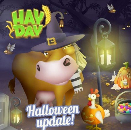 Hay day gets optional halloween update yahoo india finance for Tap tap fish halloween event