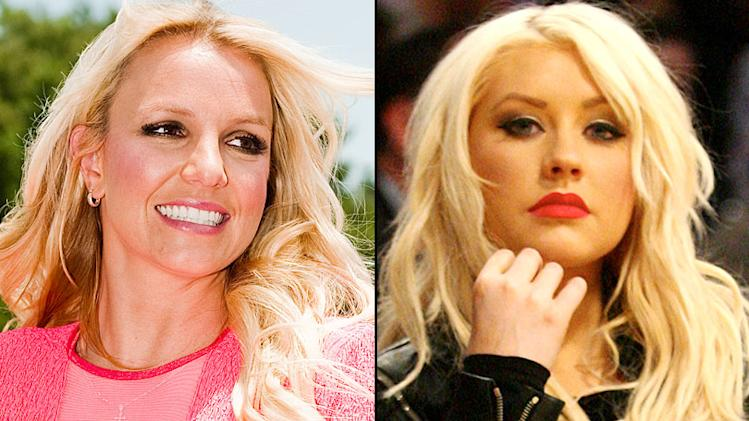 Christina Aguilera and Britney Spears