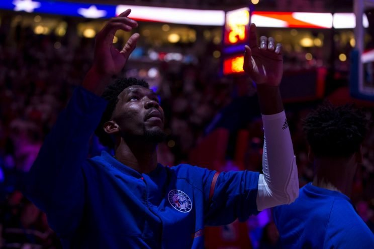 Joel Embiid is The Process, so of course he trusts it. (AP)