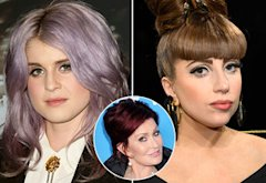 Kelly Osbourne, Lady Gaga, Sharon Osbourne | Photo Credits: David Livingston/Getty Images, Kevin Mazur/WireImage, Gregg DeGuire/WireImage