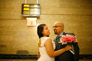 Stephanie Marquez and Mehdi Arma recently got married at City Hall.