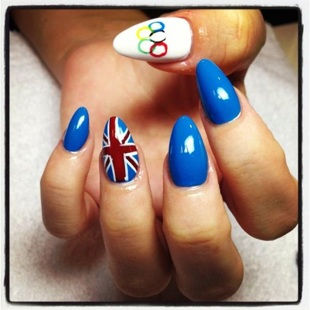 Olympics, Lily Allen, nails