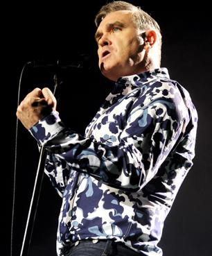 Morrissey performs at Hollywood High School in Los Angeles.