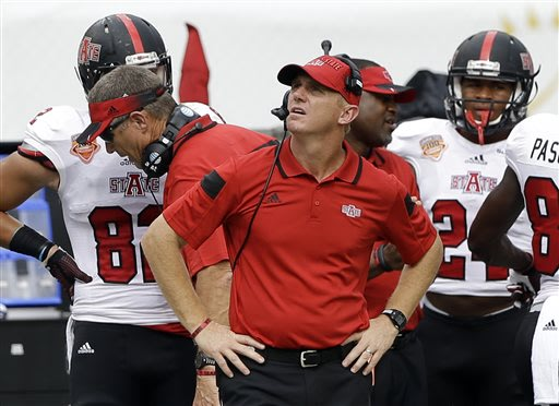Arkansas State takes control of the Sun Belt race with a win against Troy. (AP)