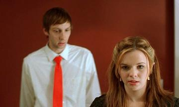 Joel David Moore and Amber Tamblyn in Anchor Bay Entertainment's Spiral