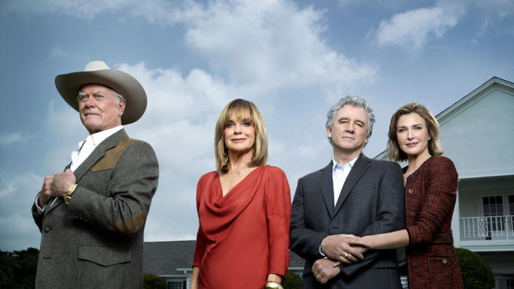 Larry Hagman, Linda Gray, Patrick Duffy and Brenda Strong