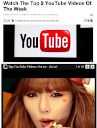 VIdeo Musik Hyuna Masuk 9 Video YouTube Terlaris