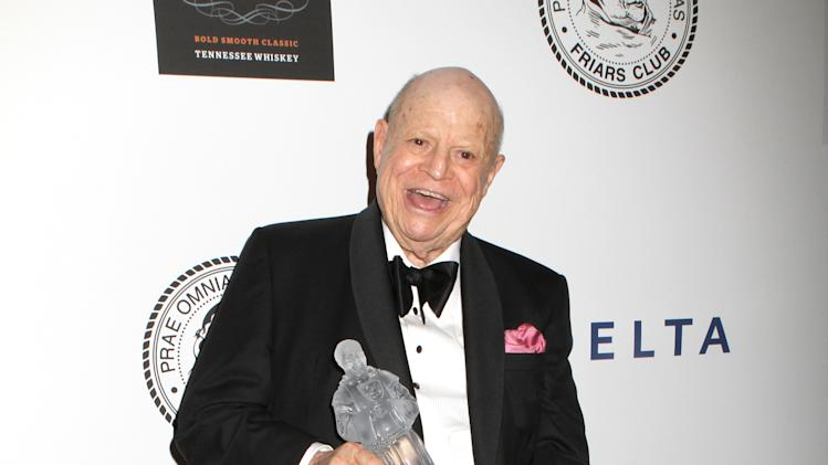Actor and Comedian Don Rickles poses for photos at the Friars Club Roast in his honor at the Waldorf Astoria on Monday, June 24, 2013 in New York. (Photo by Greg Allen/Invision/AP)