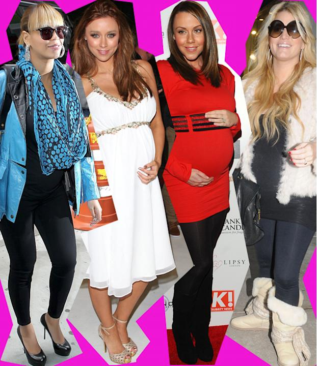 Who said fashion wasn't for mums-to-be? If Victoria Beckham is any example than having a growing bump is just another excuse to dress differently. See these pregnant celebs follow in her fashionable (