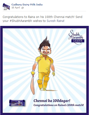 Cadbury Dairy Milk India Scores With The Shubh Aarambh League This IPL6 image Cadbury Shubhaarambh FB