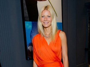 Look of the Day - Gwyneth Paltrow is draped to perfection in orange Lanvin