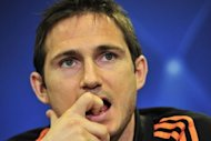 Chelsea's Frank Lampard at a press conference on April 17, ahead of his team's Champions League semi-final first leg against Barcelona on Wednesday. Chelsea believe they can stymie the jaw-dropping goalscoring exploits of Lionel Messi and pull off an unlikely upset against Barcelona