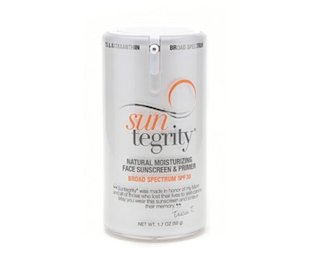 Suntegrity Natural Moisturizing Face Sunscreen & Primer, Broad Spectrum SPF 30.