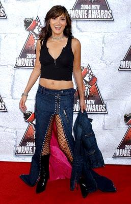Kelly Hu, star of Friday the 13th Part 8 - Jason Takes Manhattan. MTV Movie Awards - 6/5/2004