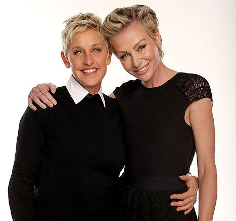 "Ellen DeGeneres on Having Kids With Portia De Rossi: There's ""Too Much Glass in Our House"""
