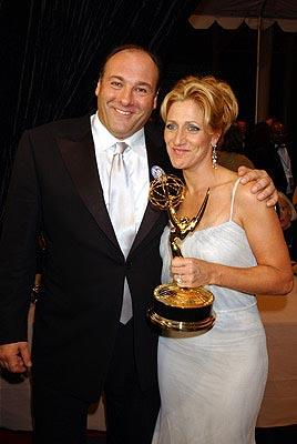 "James Gandolfini and Edie Falco Outstanding Actor and Actress in a Drama ""The Sopranos"" 55th Annual Emmy Awards - 9/21/2003"