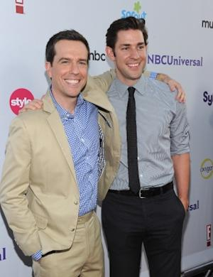 Ed Helms and John Krasinski arrive at the NBC Universal TCA 2011 Press Tour All-Star Party at the SLS Hotel, Los Angeles, on August 1, 2011 -- Getty Images