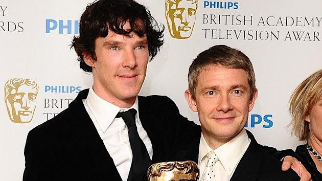 Photo of Martin Freeman & his friend  Benedict Cumberbatch
