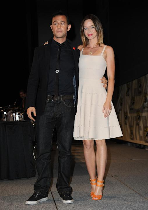 Joseph Gordon-Levitt and Emily Blunt attend the