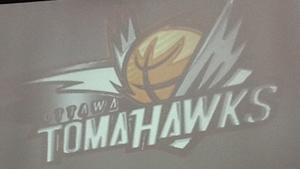 The recently unveiled logo of the new Ottawa TomaHawks basketball team does not feature the weapon, the tomahawk. Team officials say the name comes from a type of slam dunk.