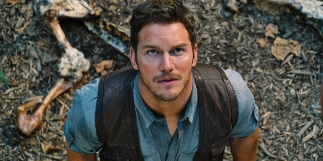 Chris Pratt in a scene from 'Jurassic World' -- Universal Pictures