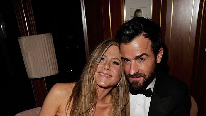 2013 Vanity Fair Oscar Party Hosted By Graydon Carter - Inside: Jennifer Anistson and Justin Theroux