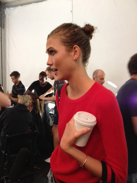 Backstage At New York Fashion Week: What's In Karlie Kloss's Make-Up Bag?