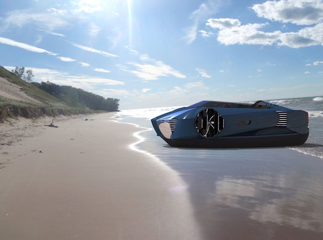 Futuristic: The Mercier-Jones hovercraft, which could go into production this year (Mercier-Jones/Rex)