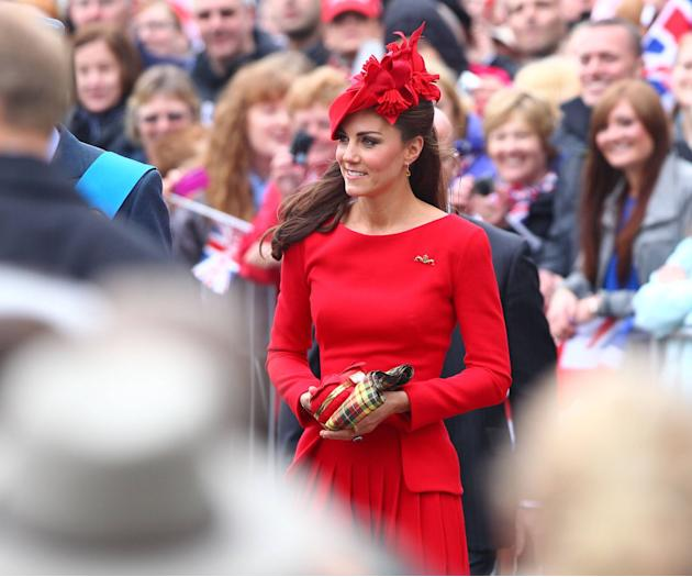 Catherine, Duchess of Cambridge, aka Kate Middleton The Queen's Diamond Jubilee River Pageant Flotilla London, England - 03.06.12 Mandatory Credit: WENN.com