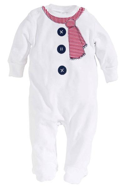 Snowman Sleepsuit And Hat