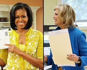 Michelle Obama, Ann Romney Rock Colorful Election Day Looks