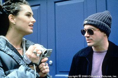 Brooke Shields and Robert Downey Jr. in Screen Gems' Black And White