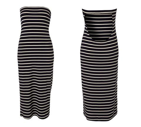 Navy Stripe Midi Cover up, $56, at Topshop