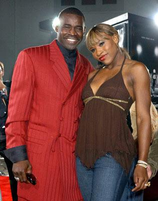 Michael Irvin and Serena Williams at the Hollywood premiere of Universal Pictures' Friday Night Lights