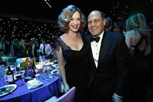 """Mad Men"" creator Matthew Weiner (R) with ""Mad Men"" actress Christina Hendricks pose at the Governors Ball for the 65th Primetime Emmy Awards in Los Angeles"