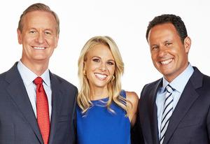 Steve Doocy, Elisabeth Hasselbeck and Brian Kilmeade | Photo Credits: Alex Kroke/Fox News