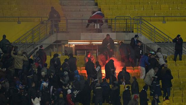 Zenit fans cause trouble during 4-1 loss to Austria Vienna (AFP)