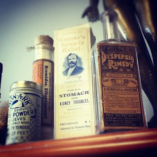 If only medicine bottles looked as classy as they used to.