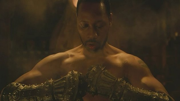 Wu-Tang clan leader RZA plays The Man With the Iron Fists in his film of the same name. (Screengrab from trailer)