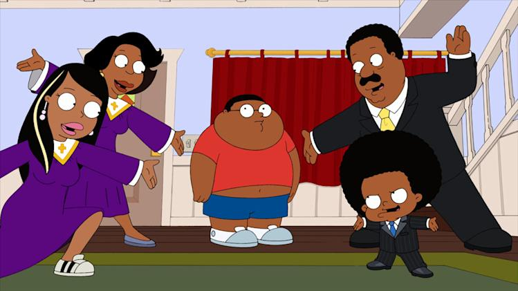 "The family is shocked to learn about Cleveland Jr.'s religious beliefs in the all-new ""The Hurricane"" episode of ""The Cleveland Show."""