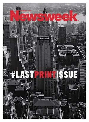 Newsweek's Final Cover Bids Adieu to Print With a Hashtag