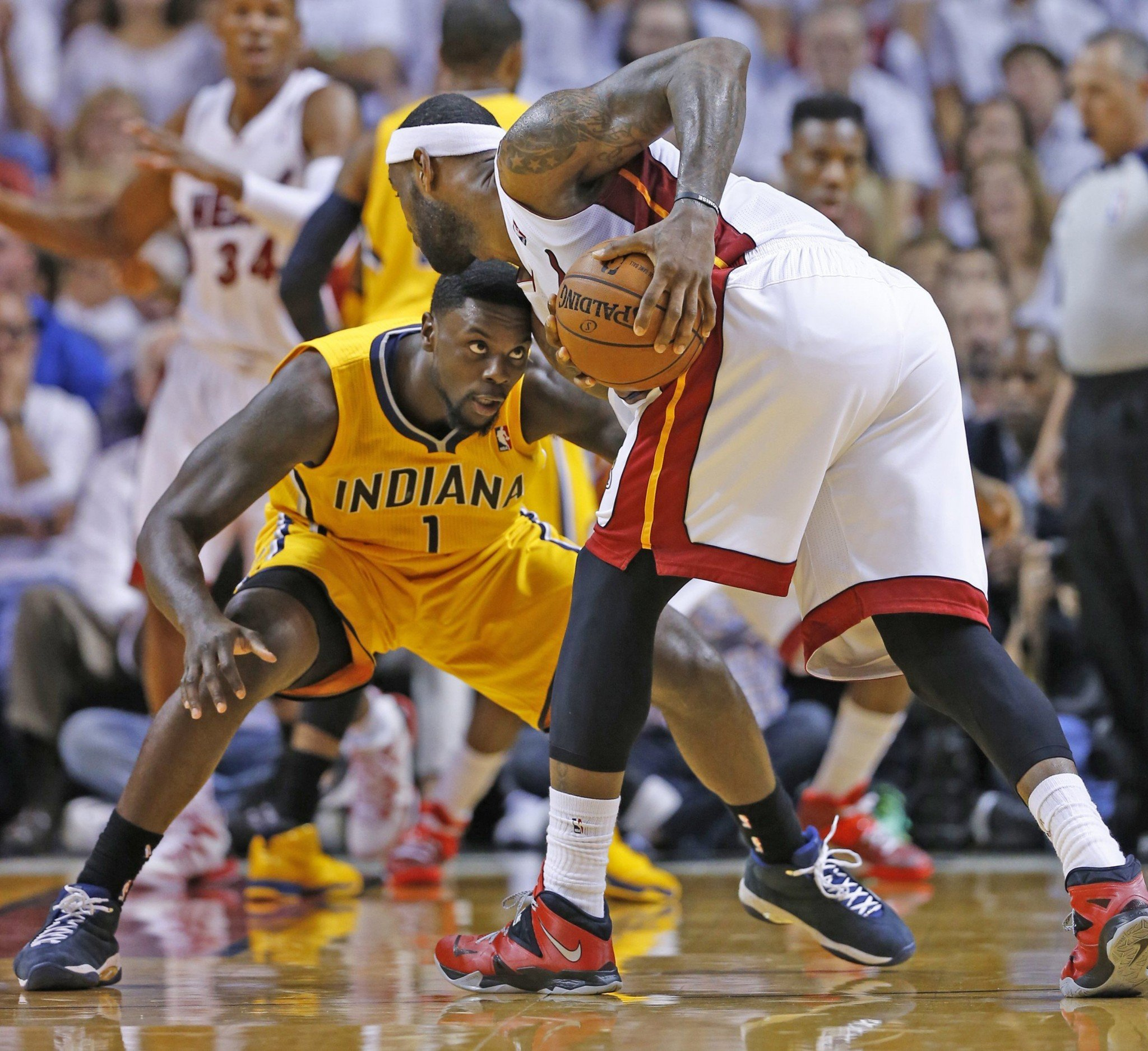 Lance Stephenson got very close to LeBron James when the two matched up in the playoffs. Could he get even closer soon? (Al Diaz/Miami Herald/MCT/Getty Images)