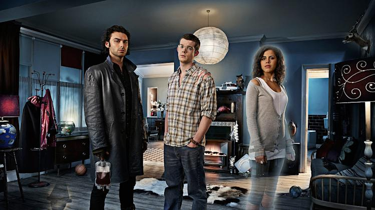 Mitchell (Aiden Turner), George (Russell Tovey) and Annie (Lenora Crichlow) in BBC America's Being Human - 2009
