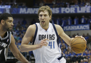 Dirk Nowitzki has no plans to leave Dallas after he becomes a free agent. (AP)