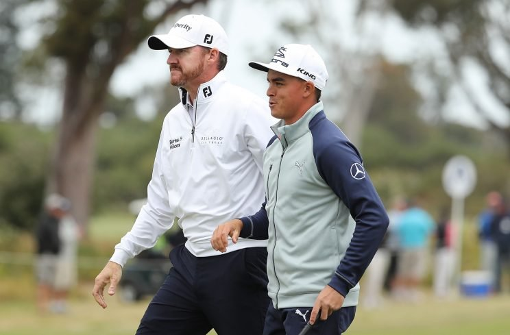 The U.S. duo of Jimmy Walker and Rickie Fowler are hanging in at the World Cup of Golf. (Getty Images)