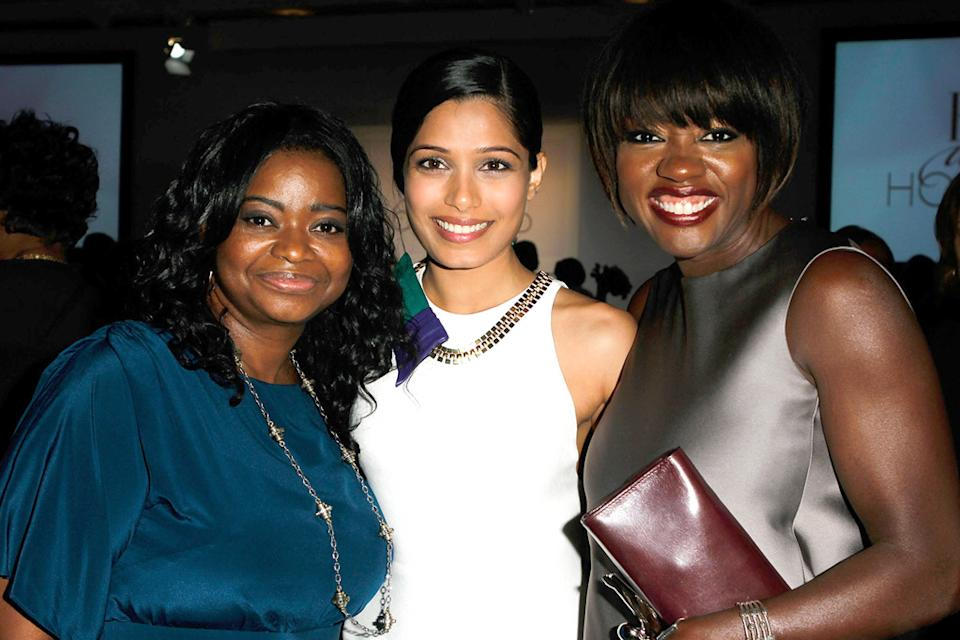 ELLE's 18th Annual Women in Hollywood Tribute 2011 Octavia Spencer Freida Pinto Viola Davis